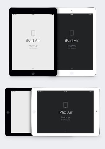 iPad Air Psd Vector Mockup