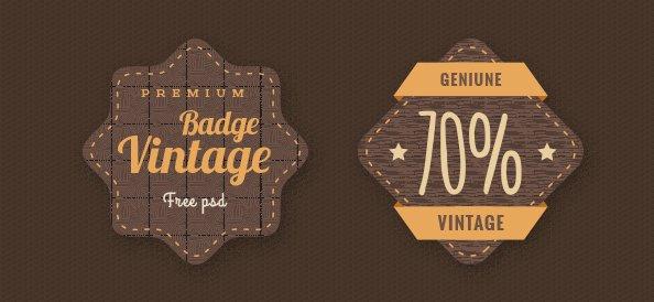 Badge PSD Template Set