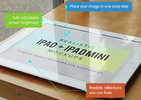 iPad and iPad Mini Mockup PSDs