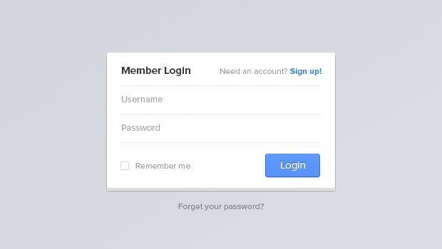 Login Page Template
