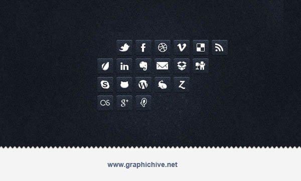 Transparent Social Media Icons (Psd)