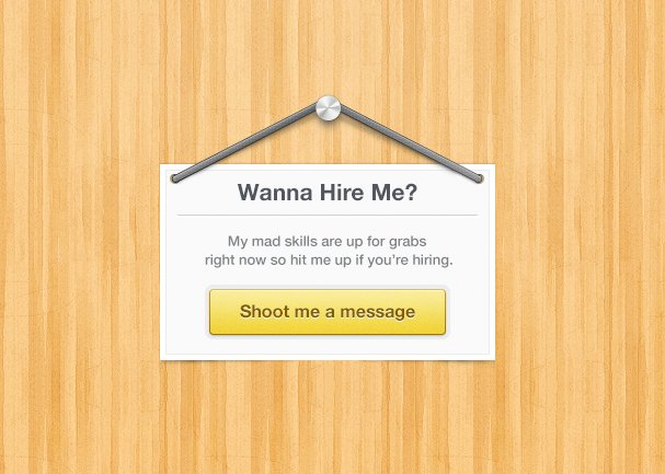 Hire Me Sign (PSD)