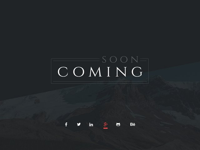 Free PSD - Coming Soon Page