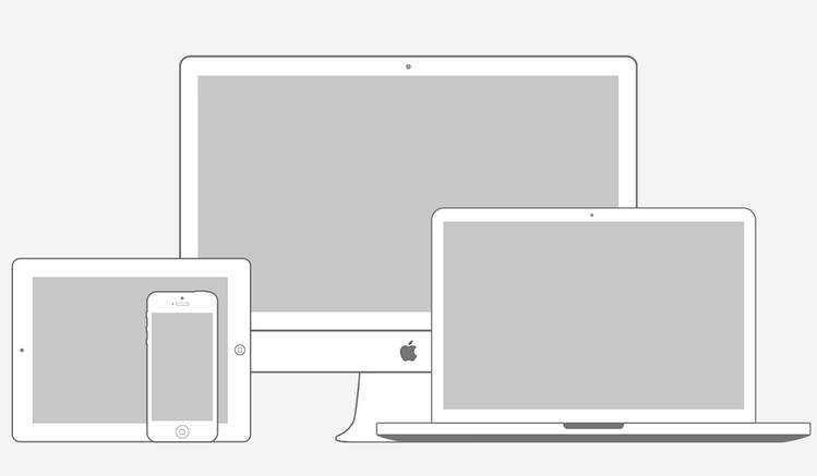 Apple Products Minimal Wireframe Kit (PSD)