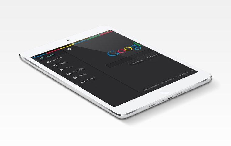 Dark Google UI