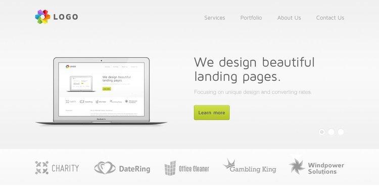 Light Web Design Free PSD Template