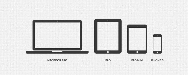 Minimal Apple Device Icons