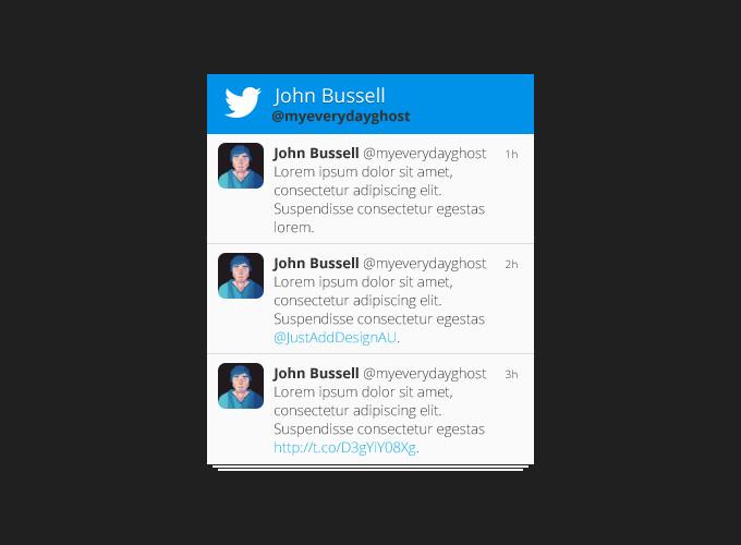 Flat Twitter Profile Widget