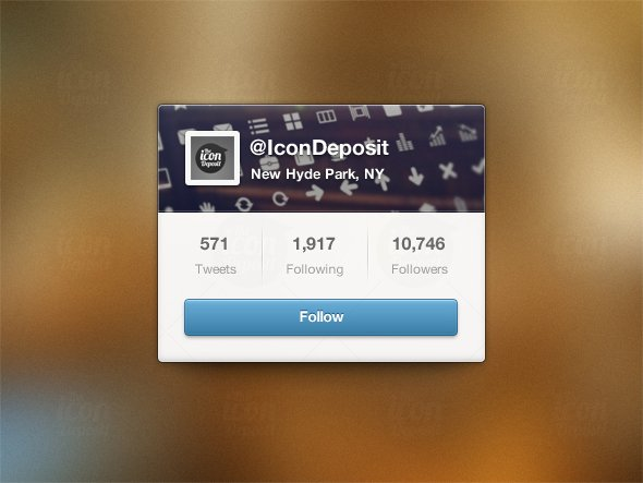 Twitter Follow UI