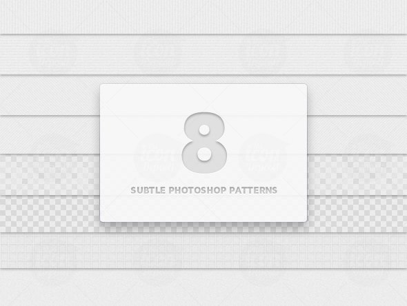 8 Subtle Photoshop Patterns (.PAT)