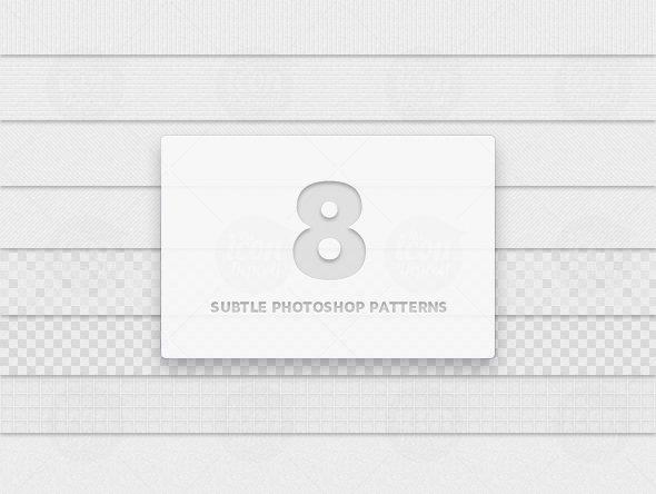 8 Subtle Photoshop Patterns (.PAT)