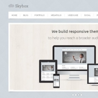 Skybox Free PSD Homepage