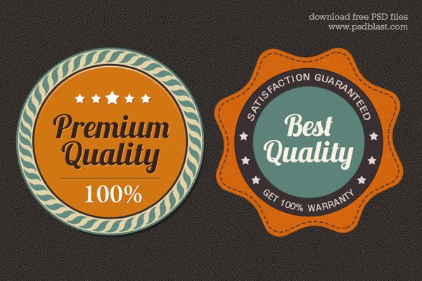 Free Premium Quality Web Badge (PSD)