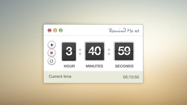 Timer Stopwatch PSD Interface