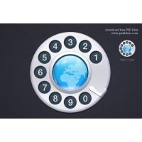 Contact Us Icon (PSD)