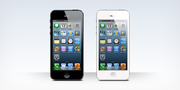 iPhone 5 Black And White Blank Templates (PSD)