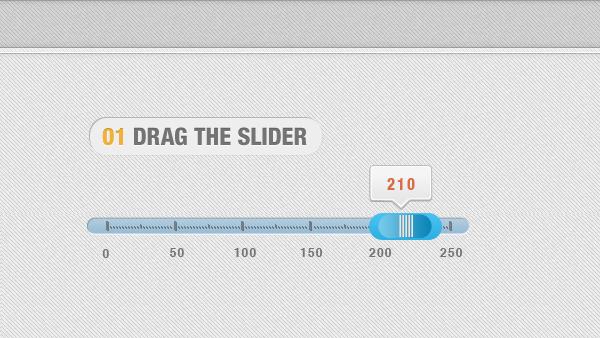 Horizontal Slider PSD