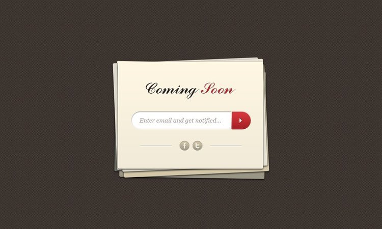 Free Coming Soon Page PSD Template