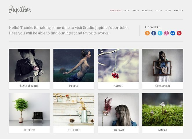 Jupither Free PSD Template