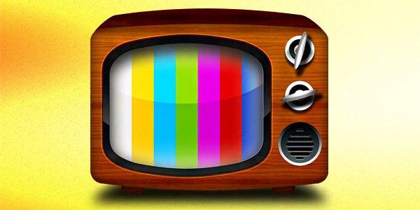 Vintage TV Icon (PSD)