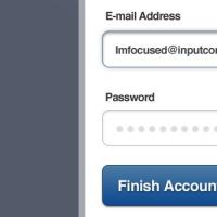 Account Setup Form (PSD)
