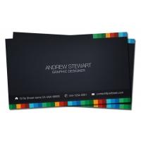 Business Card Template, Dark Theme