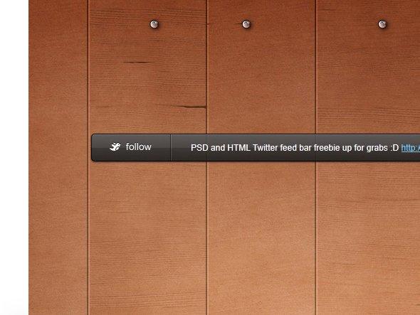 Twitter Bar (HTML CSS + PSD)