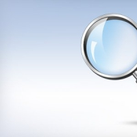 Magnifying Glass Search Icon (PSD)