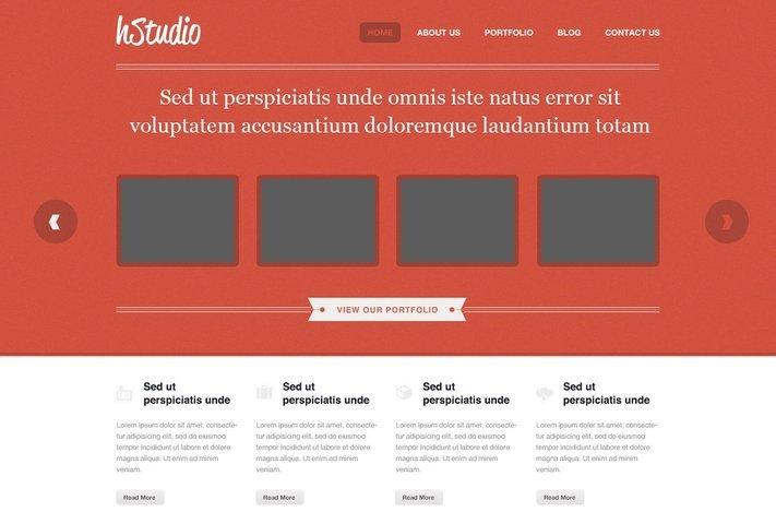 HStudio Free PSD Template