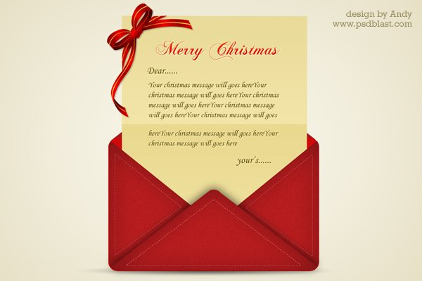 Christmas Greetings Letter PSD