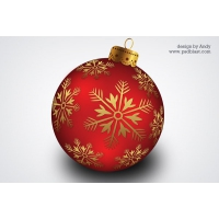 Christmas Banging Ball PSD