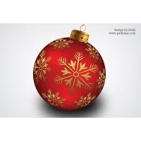 Christmas Banging Ball PSD