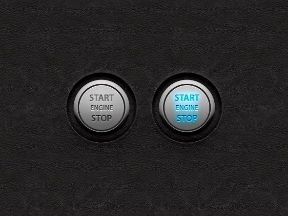Vector Start/Stop Engine UI Buttons