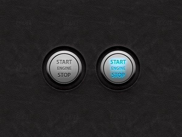 Vector Start/Stop Engine UI Buttons