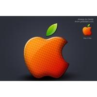 Glossy Apple Logo
