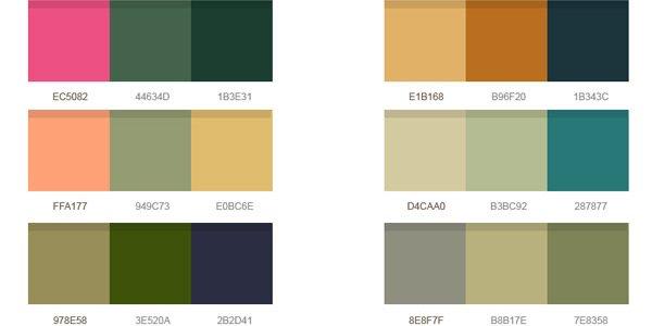 14 Wonderful Color Palettes (PSD)