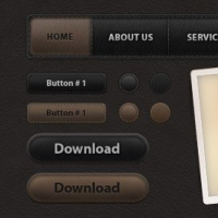 UI Leather Web Elements Pack 1