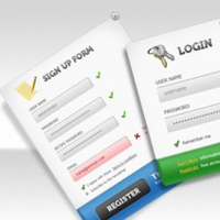 UI PSD Pack Sign Up Forms
