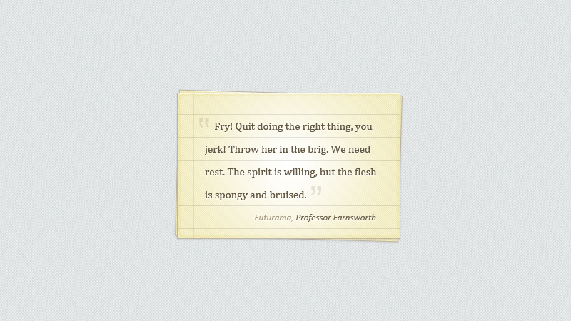 Notepaper Blockquote