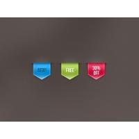 Psd Web Ribbon Sale Label Vol 1