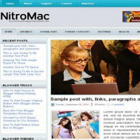 NitroMac Blogger Free Theme
