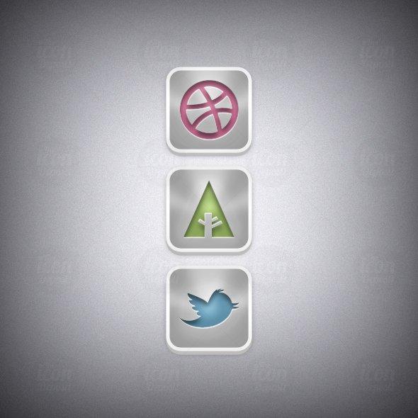 Shiny Social Icon Set