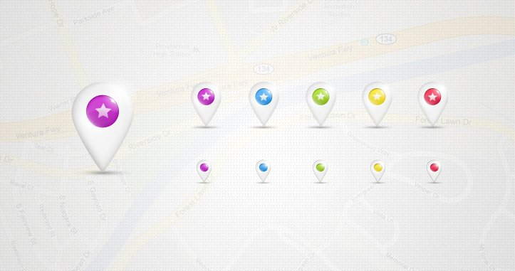 Psd Location Map Pins Pack