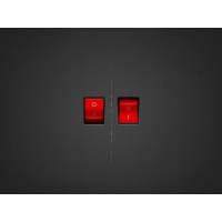 Red on / Off switch