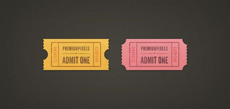 Admit One Ticket Stubs (PSD)