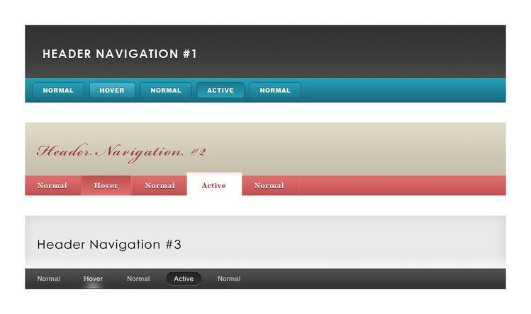 Header & Navigation Pack