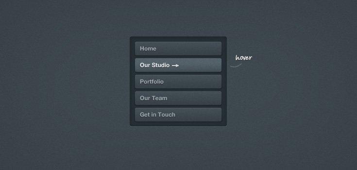 Dark Button Navigation 2 (PSD)