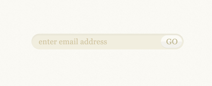 Email Subscription Form PSD