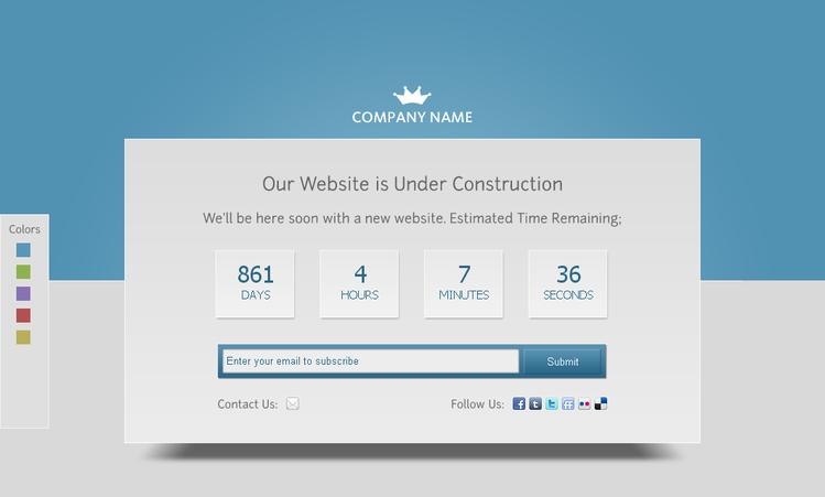 Fleepy Free Under Construction PSD
