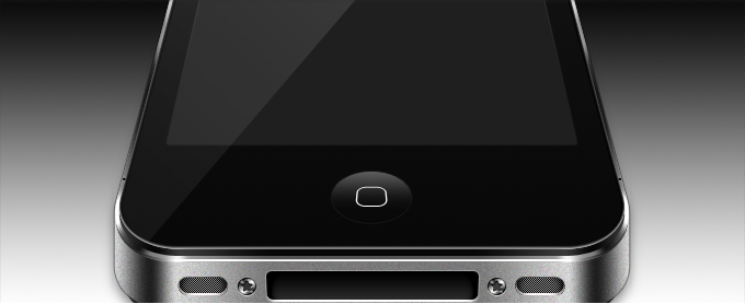Realistic iPhone PSD